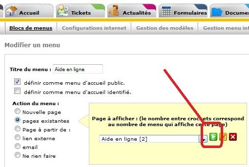Connaitre le numéro de son instance all-in-web ou le numéro d'une page, Fig5. visualiser 1 page