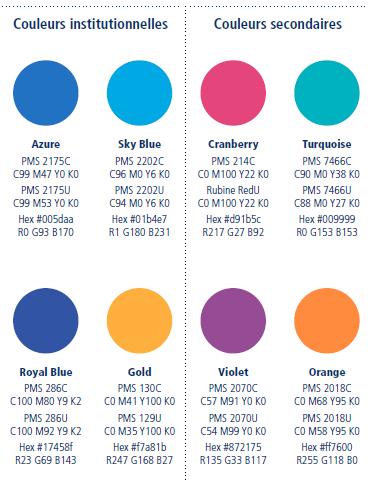 Intégrer la charte graphique du Rotary International dans un site all-in-web, Couleurs Rotary