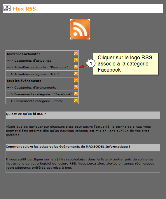 Lien entre Facebook et all-in-web, Fig. 13