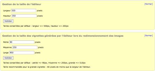 Paramétrer le nouvel éditeur de page html, Fig.4