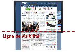 Evaluer, faire vivre et promouvoir son site pour une meilleure visibilité et un meilleur référencement, La ligne de visibilité d'une page