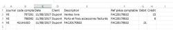 Export comptable des Ventes, Fig 2. exple 2 lignes et sans TVA