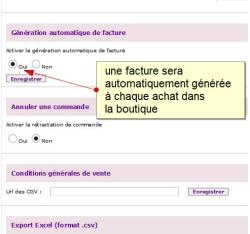 Générer automatiquement une facture lors d'une vente dans la boutique