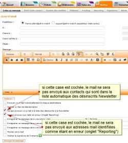 Exclure d'un mailing les désinscrits Newsletter et les mails en erreur