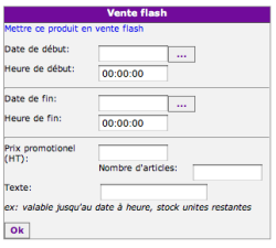Mettre un produit en vente flash, fig. 1