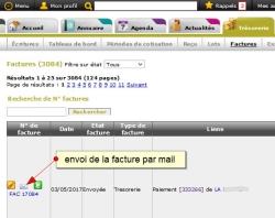 Choix du modèle de mail utilisé pour l'envoi des factures, Fig.1