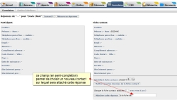 Changer la fiche contact associée à une réponse d'un formulaire