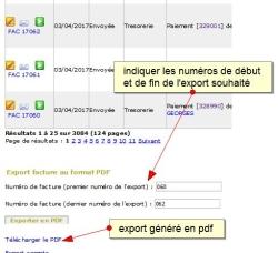Exporter plusieurs factures dans un fichier pdf, Fig 1.