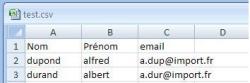 Importer des données dans l'annuaire, fig1