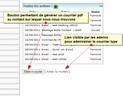 Ecrire un courrier à une personne depuis sa fiche contact, Fig1 Ajouter le greffon