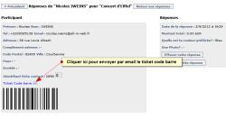Utiliser un code barre pour gérer les entrées à ses événements, Code barre