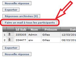 Envoi d'un mail à tous les contacts ayant répondu à un formulaire, Figure 1