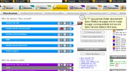 Editeur html d'une page de votre site, Fig.1 l'Editeur d'une page